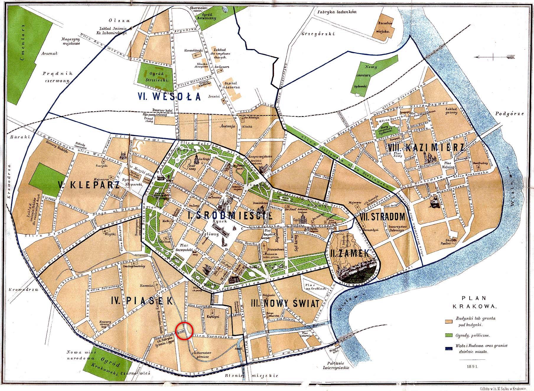 Plan Touristique Ljubljana Vieille Ville