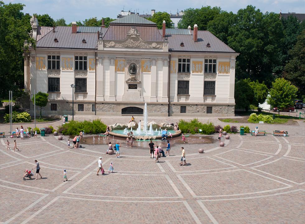 (#60) Plac Szczepański, widoczny Pałac Sztuki
