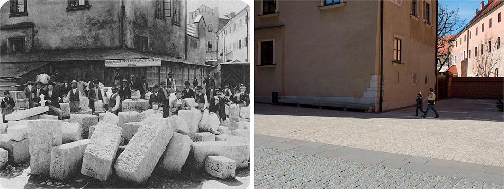 (#96) Panowie kamieniarze przy remoncie katedry na Wawelu